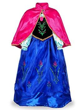 Jerris Apparel Snow Party Dress Queen Costume Princess Cosplay Dress Up by Jerris Apparel