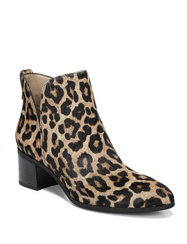Reeve 2 Leopard Print Calf Hair Booties by Franco Sarto