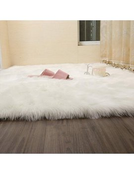 Faux Fur Rug White Tayyakoushi Soft Fluffy Rug Shaggy Rugs Faux Sheepskin Rugs Floor Carpet For Bedrooms Living Room Kids Rooms Decor 70 X 140 Cm by Tayyakoushi