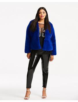 Short Fur Coat by Simply Be