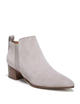 Sarto By Franco Sarto Jollie Suede Block Heel Chelsea Booties by Franco Sarto
