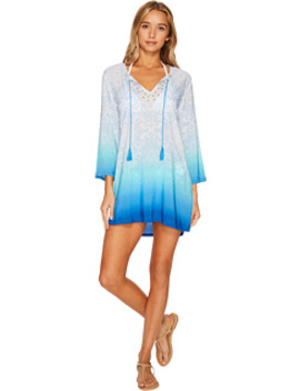 Last Night In Morocco Embellished V Neck Tunic Cover Up by La Blanca