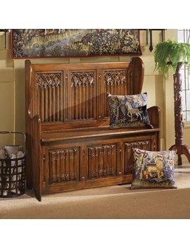 Design Toscano Kylemore Abbey Gothic Storage Bench by Design Toscano