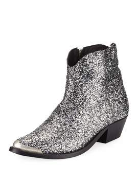 Young Glittered Western Boots by Golden Goose