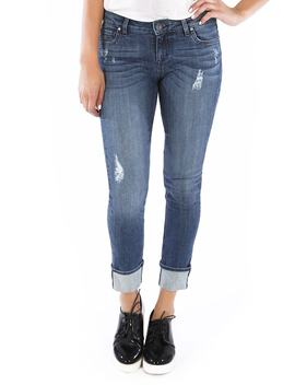 Catherine Wide Cuff Boyfriend Jeans by Kut From The Kloth