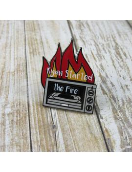 Ryan Started The Fire Enamel Pin, Dunder Mifflin, Michael Scarn, Dwight Schrute. Pam Beasly, Ryan Howard, The Temp by Etsy
