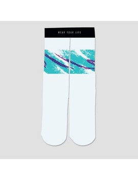 Wear Your Life Men's 90's Cup Casual Socks   One Size White by Wear Your Life