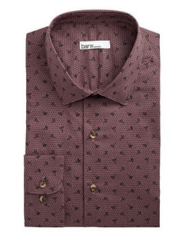 Men's Slim Fit Stretch Tossed Berry Dot Dress Shirt, Created For Macy's by Bar Iii