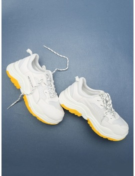 Letter Tape Lace Up Sneakers by Sheinside