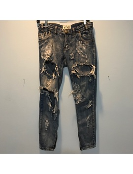 One Teaspoon Ripped Skinny  Jeans With Zipper Sz25 by One Teaspoon