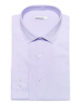 Men's Max Slim Fit Textured Dress Shirt, Created For Macy's by Bar Iii