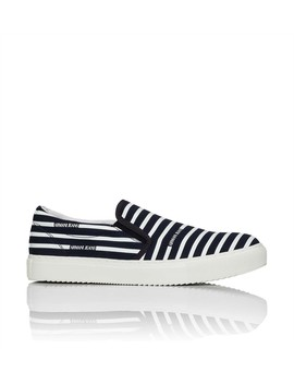 Striped Canvas Slip On Sneaker by Armani Jeans