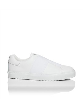 Action Leather Slip On Elastic Sneaker by Armani Jeans