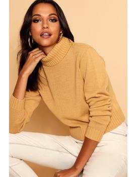 Roll Neck Crop Jumper by Boohoo