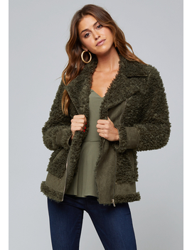 Faux Shearling Jacket by Bebe