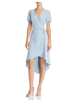 High/Low Faux Wrap Dress   100 Percents Exclusive by Aqua