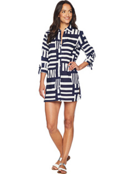 Blocked Geo Boyfriend Shirt Cover Up by Tommy Bahama