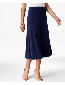 Diagonal Seam Midi Skirt, Created For Macy's by Jm Collection