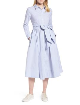 Stripe Midi Shirtdress (Regular & Petite) by 1901