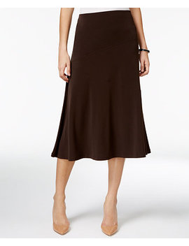 Petite Diagonal Seam Midi Skirt, Created For Macy's by Jm Collection