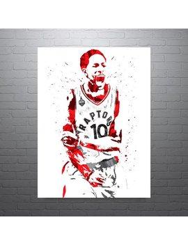 De Mar De Rozan Toronto Raptors, Sports Art Print, Basketball Poster, Kids Decor, Watercolor Contemporary Abstract Drawing Print, Modern Art by Etsy