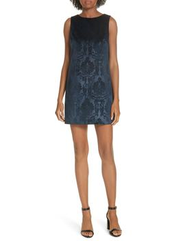 Clyde A Line Damask Shift Dress by Alice + Olivia