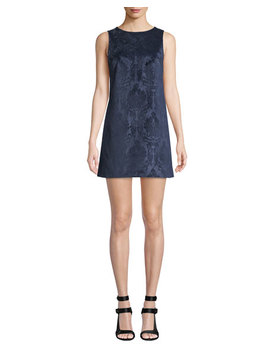 Clyde Short Brocade Cocktail Shift Dress by Alice + Olivia
