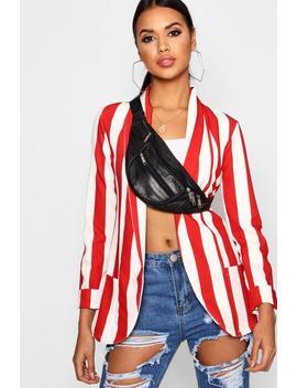 Stripe Pocket Collared Blazer by Boohoo