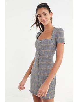 Uo Plaid Zip Front Mini Dress by Urban Outfitters