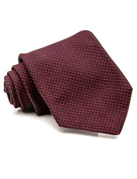 Men's Red And Blue Textured Diamond Tie by Kiton