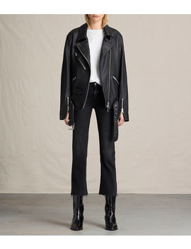 Kumara Oversized Leather Biker Jacket by Allsaints