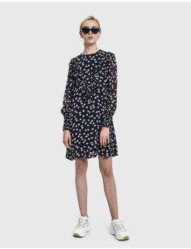 Rometty Georgette Mini Dress by Ganni