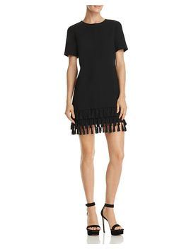 Tassel Hem Shift Dress   100 Percents Exclusive by Aqua