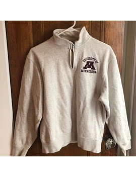 University Of Minnesota Quarter Zip Sweatshirt by Jansport