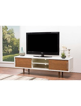 Baxton Studio Gemini Tv Stand In White/Walnut by Bed Bath And Beyond