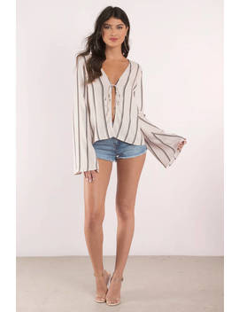 Saved By The Bell Sleeve Toast Multi Blouse by Tobi
