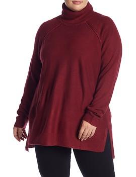 Turtleneck Raglan Sleeve Sweater (Plus Size) by Joe Fresh