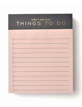 Blush To Do List Notepad With Gold Foil by Gartner Studios