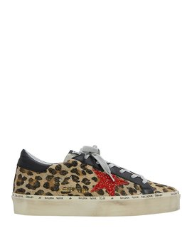 Hi Star Leopard Haircalf Low Top Sneakers by Golden Goose