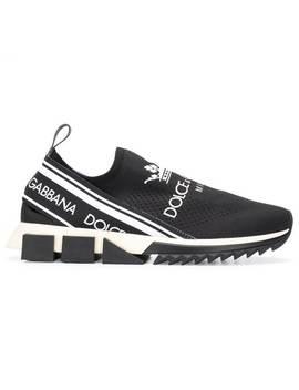 Crown Print Sorrento Sneakers by Dolce & Gabbana