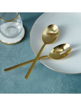 Gold Salad Serving Spoons by West Elm