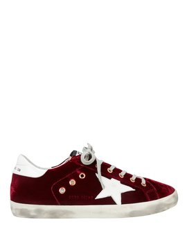 Superstar Red Velvet Low Top Sneakers by Golden Goose