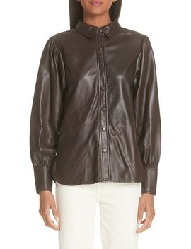 Rhinehart Leather Shirt by Ganni