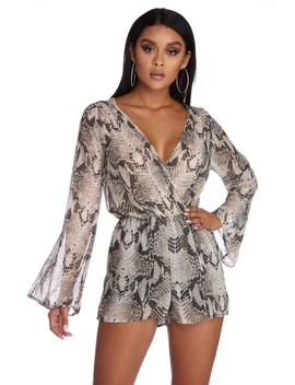 Steal The Show Snake Printed Romper by Windsor