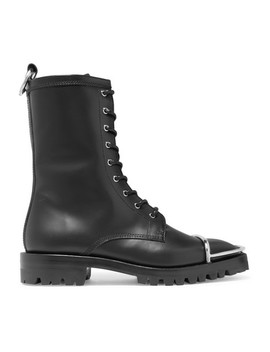 Kennah Lace Up Leather Ankle Boots by Alexander Wang
