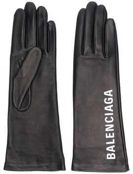 Logo Print Gloves by Balenciaga