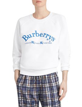 Battarni Embroidered Logo Sweatshirt by Burberry