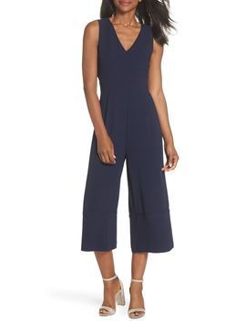 Crepe Cropped Jumpsuit by Vince Camuto