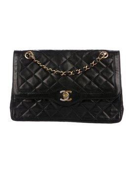Chanel Vintage Cc Double Flap Bag by Chanel