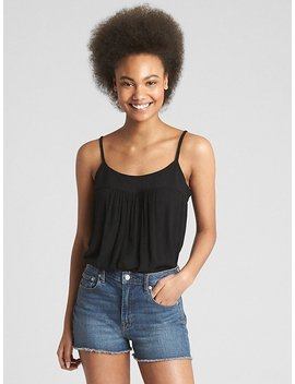 Shirred Square Neck Cami by Gap